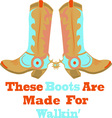 These Boots vector image
