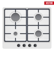 surface of gas stove vector image