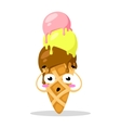 Funny cartoon cute ice cream Kawaii muzzle vector image