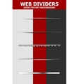 Set of abstract web dividers vector image vector image