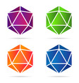 set of isolated colorful gradient gemstones vector image vector image