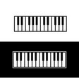 Keyboard of piano vector image