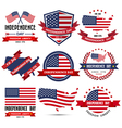 Independence day badge and label vector image