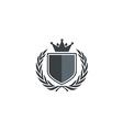 emblem shield king identity logo vector image