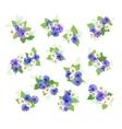Wildflowers Bouquets Set vector image vector image