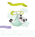 Baby Shower or Arrival Card - Baby Panda vector image vector image