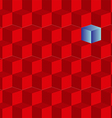 background of red cubes vector image