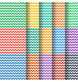 chevron seamless pattern collection vector image