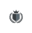 emblem shield king identity logo vector image