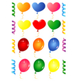 Party balloons objects vector image