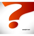 question mark background vector image