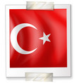 turkey flag on paper vector image