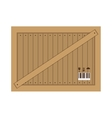 wooden box for transportation icon vector image