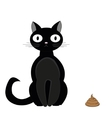 Cat and turd2 vector image