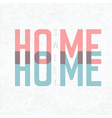 home sweet home retro card vector image