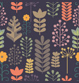 seamless pattern with stylized branches vector image