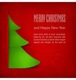 Christmas card green tree on vector image