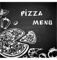 Vintage hand drawn pizza menu vector image vector image