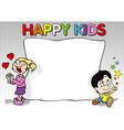Happy Kids Background vector image vector image