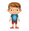Boy Realistic 3d Child Cartoon Character Icon vector image