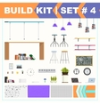 Build kit 4 office furniture vector image