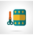 Color paper and scissors flat icon vector image