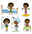Daily Morning African-American Boys Life vector image