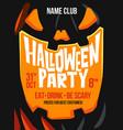 halloween close up pumpkin vector image