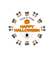Halloween hexagon logo sign vector image