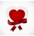 heart card and ribbon vector image