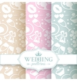 Pale romantic seamless patterns vector image