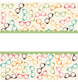 Seamless colorful pattern with glasses vector image