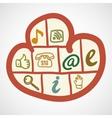 Doodle cloud computing concept vector image vector image