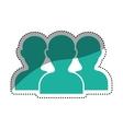 Teamwork people silhouette vector image