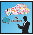 Abstract concept of education vector image vector image