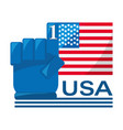 american flag with number one symbol vector image