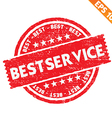 Stamp sticker best service collection - - E vector image