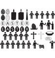People pictogram for Easter vector image vector image