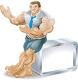 muscular businessman vector image vector image