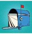 Retro letter box realistic drawing vector image