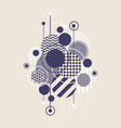 abstract art background with modern geometric vector image
