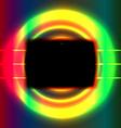 Black screen vector image