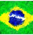 Brazil flag colorful bright background vector image