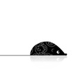 Computer mouse black for your design vector image