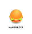 hamburger icon symbol vector image