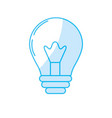silhouette light energy bulb to illumination vector image
