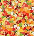 Vegetation Patterned Wallpaper vector image