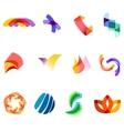 12 colorful symbols set 20 vector image