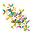 abstract colorful and creative geometric vector image