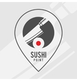Sushi point - logo for the shop vector image